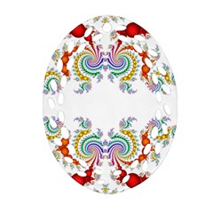 Fractal Kaleidoscope Of A Dragon Head Oval Filigree Ornament (two Sides) by Amaryn4rt