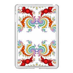 Fractal Kaleidoscope Of A Dragon Head Apple Ipad Mini Case (white) by Amaryn4rt