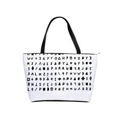 Zodiac Killer  Shoulder Handbags by Valentinaart