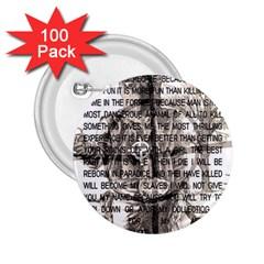 Zodiac Killer  2 25  Buttons (100 Pack)  by Valentinaart