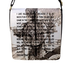 Zodiac Killer  Flap Messenger Bag (l)  by Valentinaart