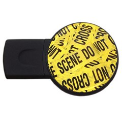 Crime Scene Usb Flash Drive Round (2 Gb) by Valentinaart