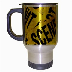 Crime Scene Travel Mug (silver Gray) by Valentinaart