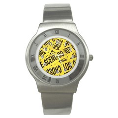 Crime Scene Stainless Steel Watch by Valentinaart