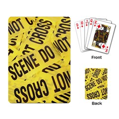 Crime Scene Playing Card by Valentinaart