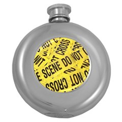 Crime Scene Round Hip Flask (5 Oz) by Valentinaart
