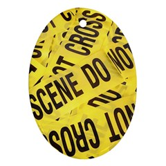 Crime Scene Oval Ornament (two Sides) by Valentinaart