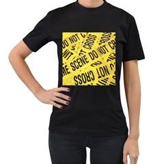 Crime Scene Women s T Shirt (black) by Valentinaart