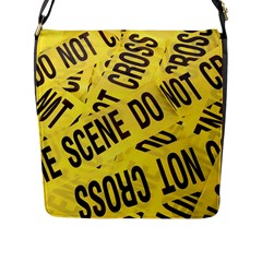 Crime Scene Flap Messenger Bag (l)  by Valentinaart