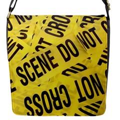 Crime Scene Flap Messenger Bag (s) by Valentinaart