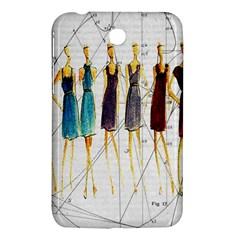 Fashion Sketch  Samsung Galaxy Tab 3 (7 ) P3200 Hardshell Case  by Valentinaart