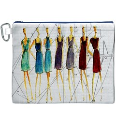 Fashion Sketch  Canvas Cosmetic Bag (xxxl) by Valentinaart