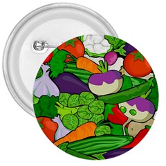 Vegetables  3  Buttons by Valentinaart