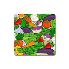 Vegetables  Square Magnet by Valentinaart