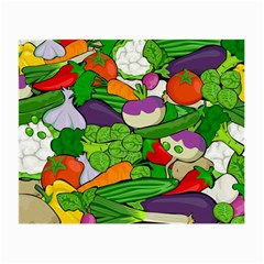 Vegetables  Small Glasses Cloth by Valentinaart