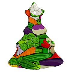 Vegetables  Christmas Tree Ornament (two Sides) by Valentinaart