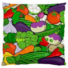 Vegetables  Large Cushion Case (one Side) by Valentinaart