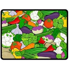 Vegetables  Double Sided Fleece Blanket (large)  by Valentinaart