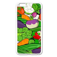 Vegetables  Apple Iphone 6 Plus/6s Plus Enamel White Case by Valentinaart