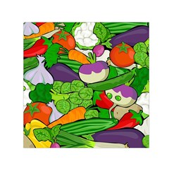 Vegetables  Small Satin Scarf (square) by Valentinaart