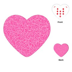 Pink Pattern Playing Cards (heart)  by Valentinaart