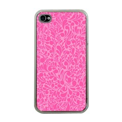 Pink Pattern Apple Iphone 4 Case (clear) by Valentinaart