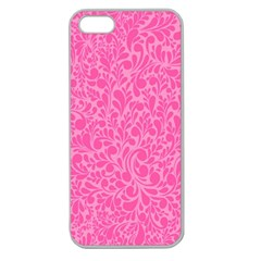 Pink Pattern Apple Seamless Iphone 5 Case (clear) by Valentinaart