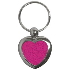 Pink Pattern Key Chains (heart)  by Valentinaart