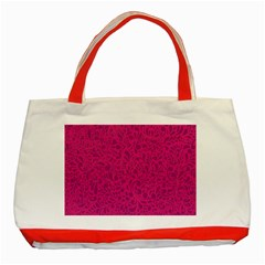 Pink Pattern Classic Tote Bag (red) by Valentinaart