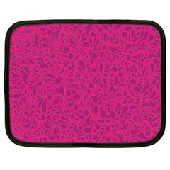 Pink Pattern Netbook Case (large) by Valentinaart