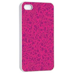 Pink Pattern Apple Iphone 4/4s Seamless Case (white) by Valentinaart