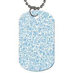 Blue Pattern Dog Tag (two Sides) by Valentinaart