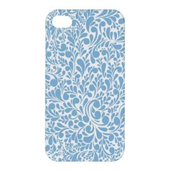 Blue Pattern Apple Iphone 4/4s Hardshell Case by Valentinaart