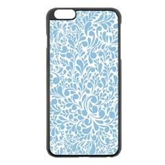 Blue Pattern Apple Iphone 6 Plus/6s Plus Black Enamel Case by Valentinaart