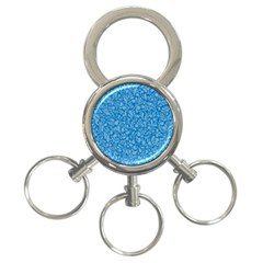 Blue Pattern 3 Ring Key Chains by Valentinaart