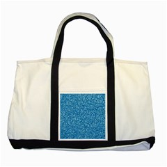 Blue Pattern Two Tone Tote Bag by Valentinaart