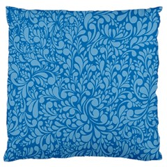 Blue Pattern Large Cushion Case (one Side) by Valentinaart