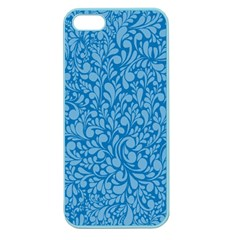 Blue Pattern Apple Seamless Iphone 5 Case (color) by Valentinaart