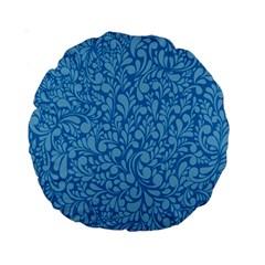Blue Pattern Standard 15  Premium Round Cushions by Valentinaart