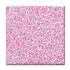 Pink Pattern Face Towel by Valentinaart
