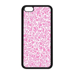 Pink Pattern Apple Iphone 5c Seamless Case (black) by Valentinaart