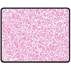 Pink Pattern Double Sided Fleece Blanket (medium)  by Valentinaart