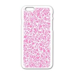 Pink Pattern Apple Iphone 6/6s White Enamel Case by Valentinaart