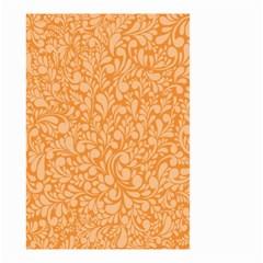 Orange Pattern Small Garden Flag (two Sides) by Valentinaart