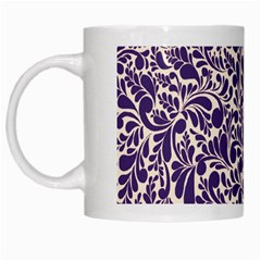 Purple Pattern White Mugs by Valentinaart