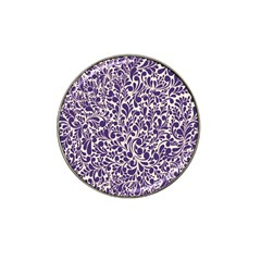 Purple Pattern Hat Clip Ball Marker by Valentinaart