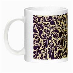 Purple Pattern Night Luminous Mugs by Valentinaart