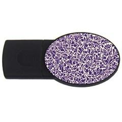 Purple Pattern Usb Flash Drive Oval (4 Gb) by Valentinaart