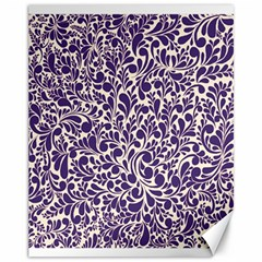 Purple Pattern Canvas 11  X 14   by Valentinaart