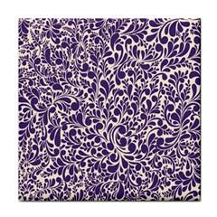 Purple Pattern Face Towel by Valentinaart